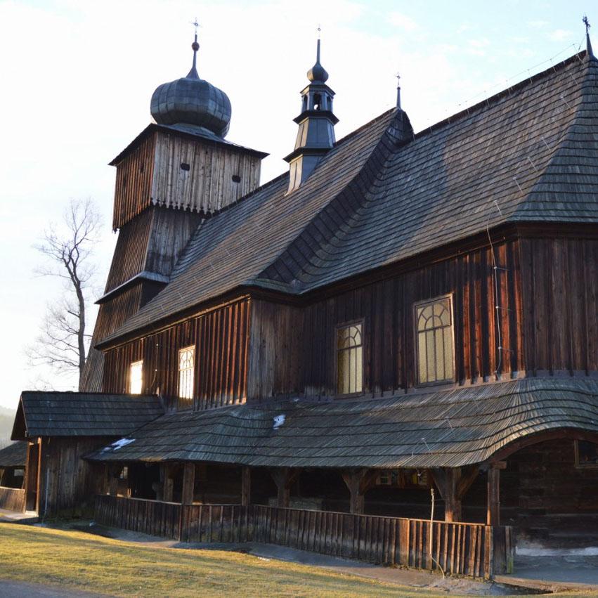 Lachowice kościół drewniany