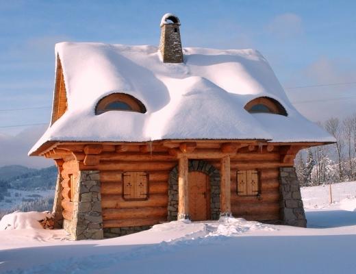 Dom duży zima